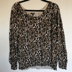 Torrid Animal Print Lightweight Sweater 2
